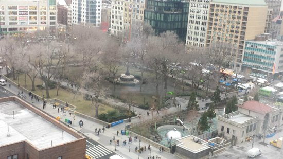 W New York - Union Square: View of Union Square Park from the room