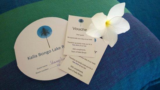 Kalla Bongo Lake Resort: Free drinks!