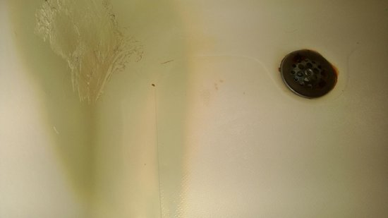 Rodeway Inn Maingate: Disgusting bathtub- rusty, pointy crusty drain