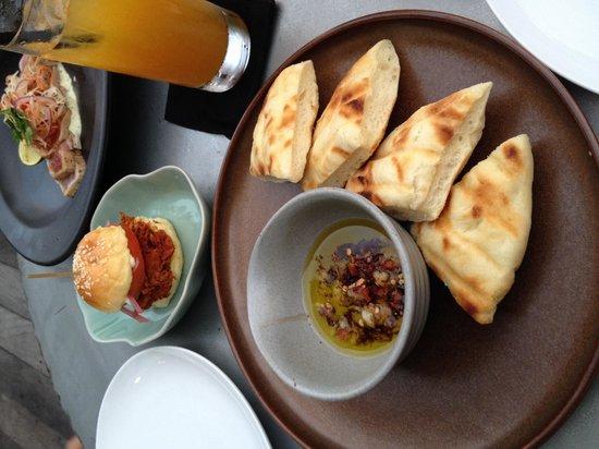Barbacoa Bali: Chapa Bread, Pulled Pork Torta, Smoked Sashimi Tuna