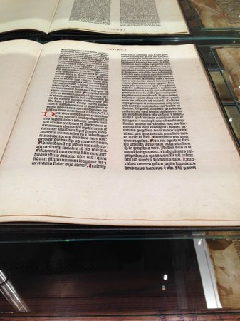 Museum of Biblical Art: test page from the gutenberg bible