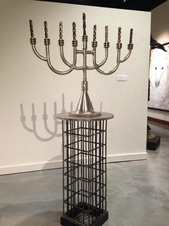 Museum of Biblical Art: Drill bit Menorah