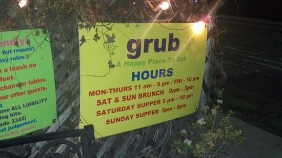 Grub : a happy place to eat