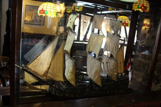 The Swan Inn: Model of Capt Cooks Endeavour