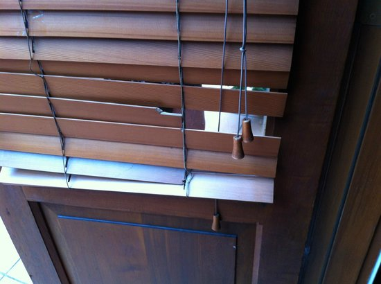 Manly Lodge: Broken blinds in a room which has a bed in it - hope you like waking up to the sunshine at 4.30a
