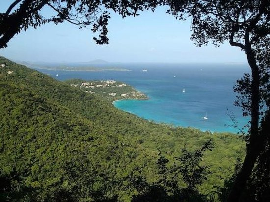 Cinnamon Bay Campground : Cinnamon Bay from the trail