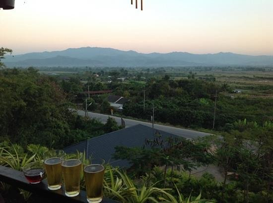 Thaton Hill Resort: View from the deck.