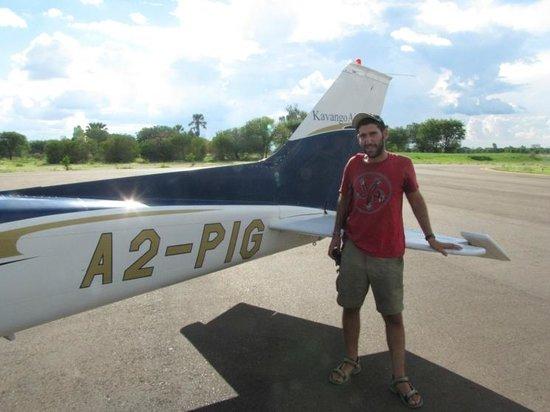 Okavango Delta: Amir Baer by the plane