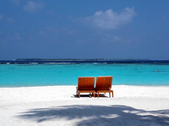 The Sun Siyam Iru Fushi Maldives : View from the pavilion
