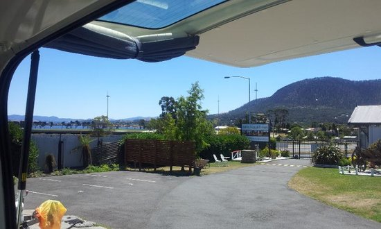 Hobart Cabins and Cottages: view from our site!!