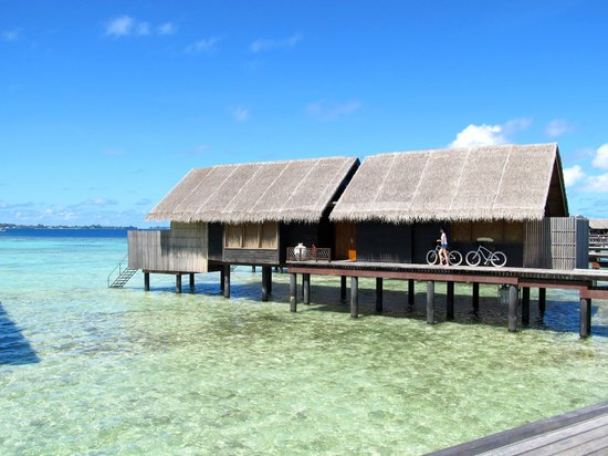 Shangri-La's Villingili Resort and Spa Maldives: our villa from outside