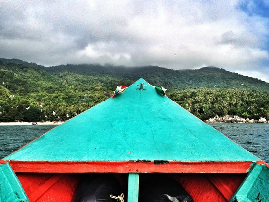 Haad Yuan Beach: Лодка на Haad Yuan