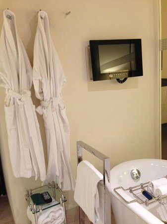 The Oberoi, Mumbai: TV in the Bathroom
