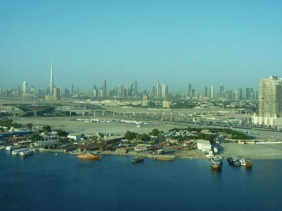 InterContinental Dubai Festival City: View over higher creek-from Junior suite