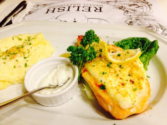 Relish at Ponte: Baked salmon