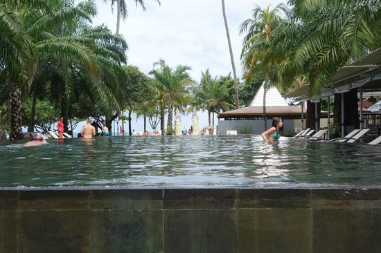 Segara Village Hotel: one of two hotel pools, facing the beach and boardwalk