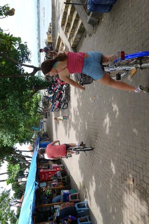 Segara Village Hotel : Hire a bike for $5 and ride along beach boardwalk or backstreets. loads of fun
