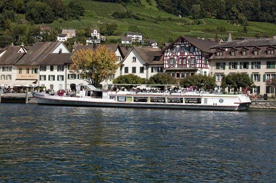 Hotel-Restaurant Zur Rheingerbe: Restaurant/Hotel Rheingerbe direkt am Rhein