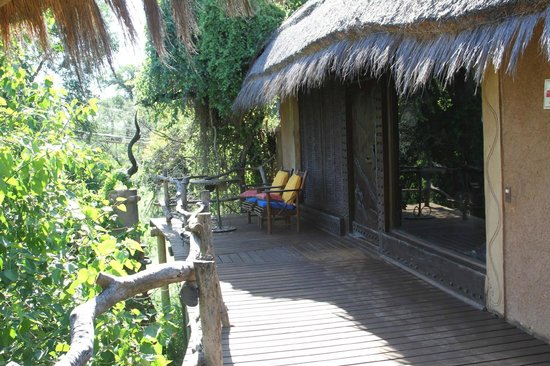 Makalali Private Game Lodge : Our deck