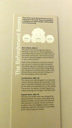 Cafe @ V&A Museum: V&A Cafe - 'Refreshment Rooms' information