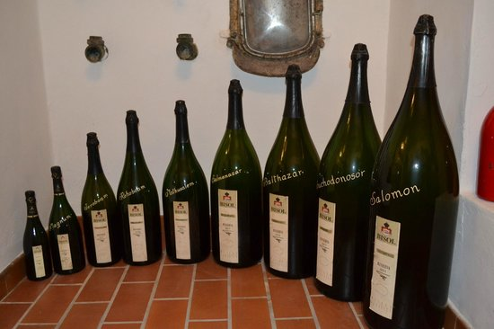 Veneto Tours - Day Tours: Bisol different sizes of bottles