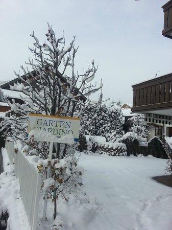 Boutique Hotel Am Park : Schneefall am 27.01.14