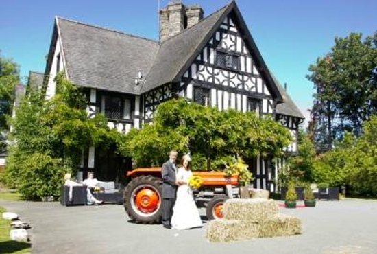 Maesmawr Hall Hotel: The Bride and Groom on their Wedding Day