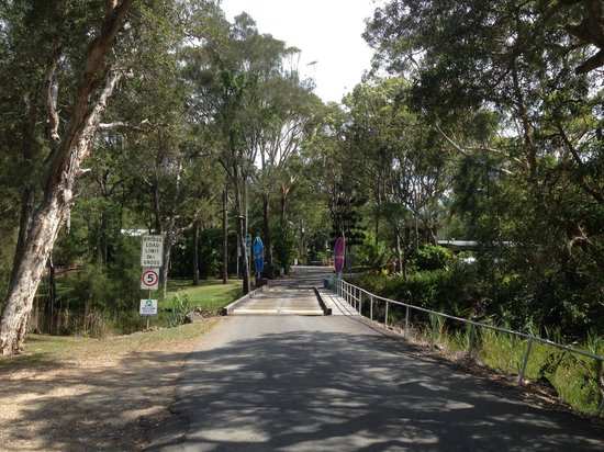 BIG4 Nambucca Beach Holiday Park: Wooden bridge at entry