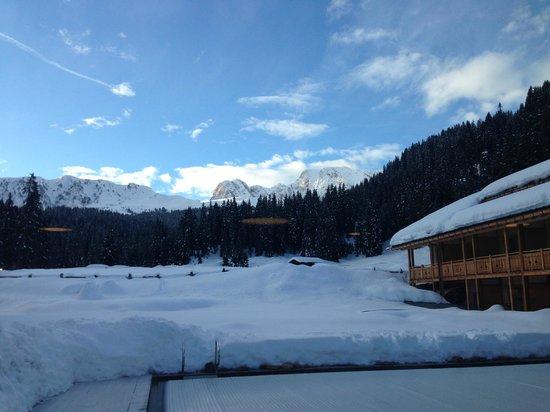 Tirler - Dolomites Living Hotel: Blick vom Kaminzimmer