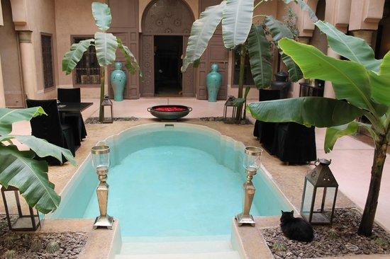 Riad Noir d'Ivoire: Main courtyard