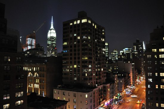 The Marcel at Gramercy: View from roof terrace at night