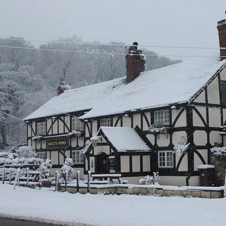 Holts Arms: Winter wonderland.. Beautiful when snow covered and fires lit.