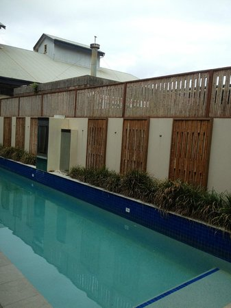 Butter Factory Apartments: Lap pool - functional for swimming.