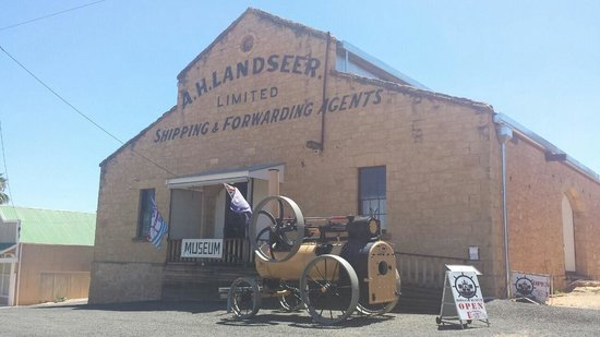The old A. Landseer warehouse in Morgan is now the town museum.