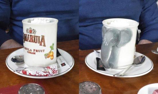 Kurfürstenschänke: Amarula coffee served in an Amarula mug. Attention to detail.