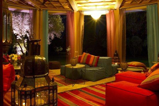 Dar Zemora: Fan Room at Night