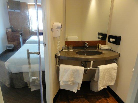 Ibis Christchurch : 洗面台もすっきりしています