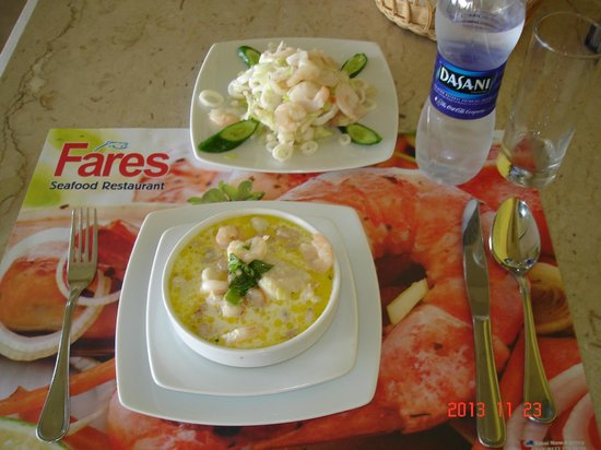 Fares Seafood : Знаменитый суп Fares.