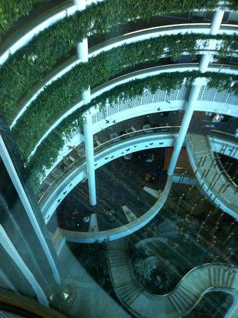 Rixos Downtown Antalya: View from glass elevator