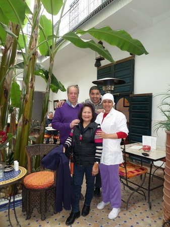 Riad Aloes: Oliver and staff