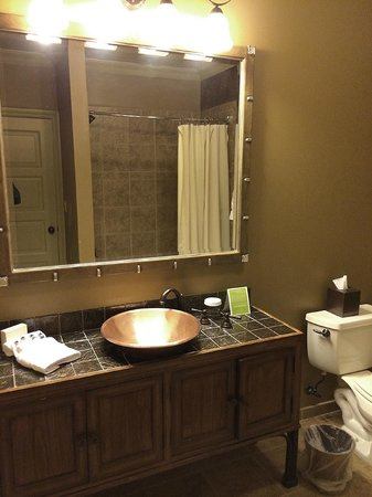 Grand Cascades Lodge: Queen Size Bed/Studio Suite Bathroom