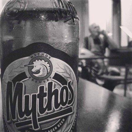 Santorini Greek Taverna : Try Mythos, the most popular Greek beer.