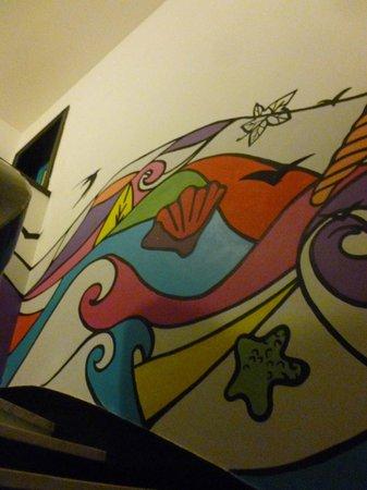 Hostel Pinamar: Escalera copada
