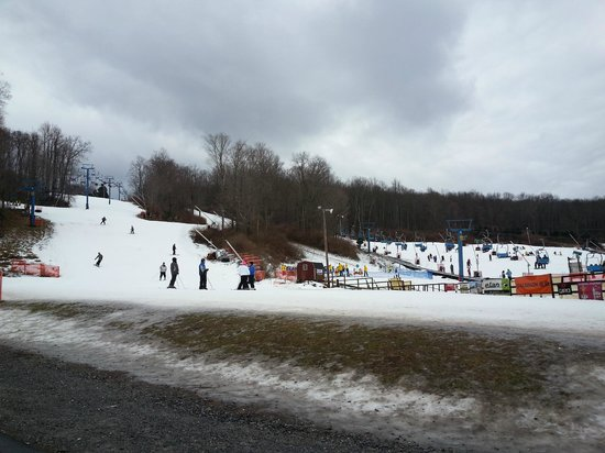Shawnee Mountain Ski Area : View from the lodge