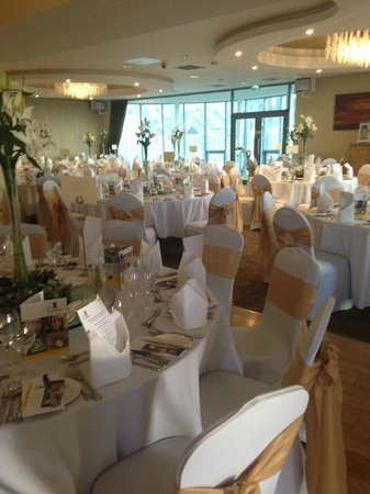 Glasson Country House Hotel & Golf Club : The function room, all dolled up