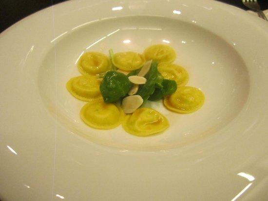 Ristorante Berton: ravioli di ricotta con spinacini