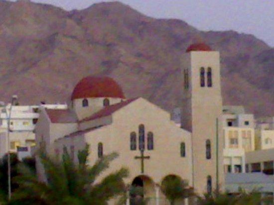 Queen Ayola Hotel: Aqaba church