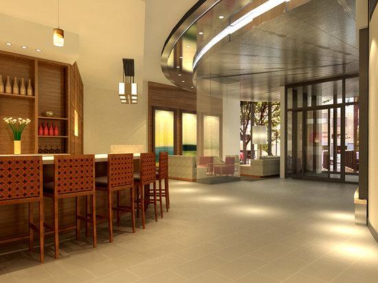 Hyatt Place Flushing/LaGuardia Airport: Restaurant & lounge with spectacular panoramic views of the Manhattan skyline