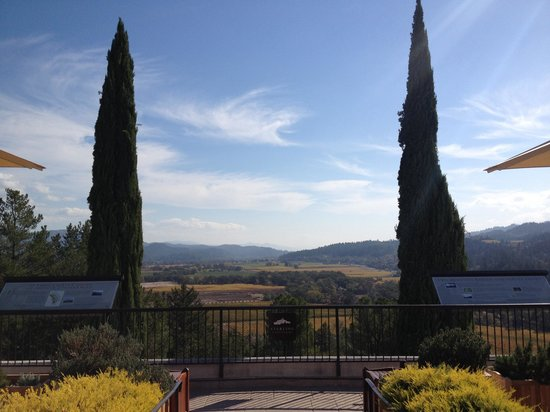 Sterling Vineyards: Vista a valle de napa