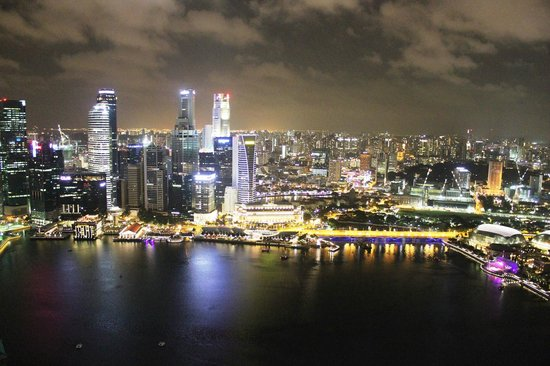 Marina Bay: View from the top of the Skypark hotel
